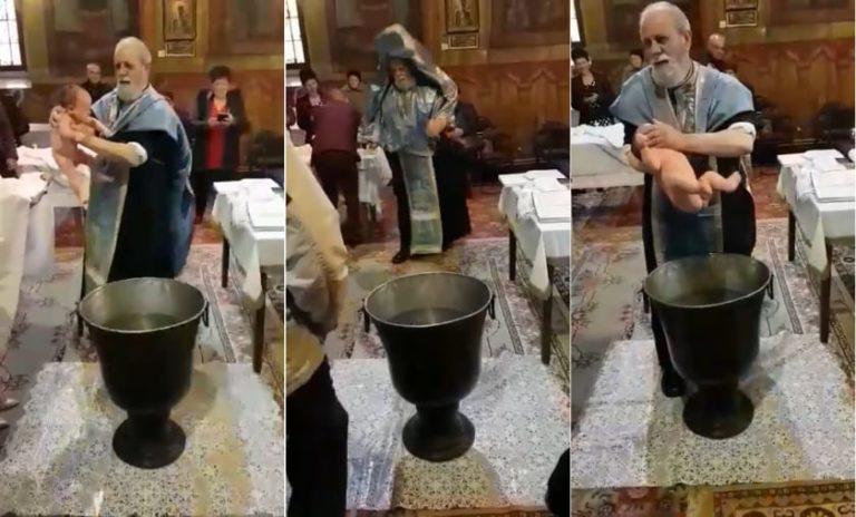 Botez HALUCINANT la o biserică din Brăila!! Nu o sa crezi ce a facut preotul!