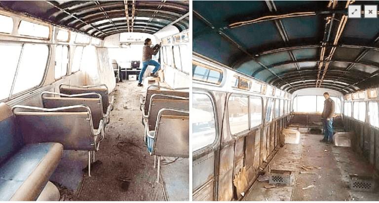 Aceasta fata a cumparat un autobuz vechi si l-a transformat intr-o locuinta cum n-ai mai vazut!