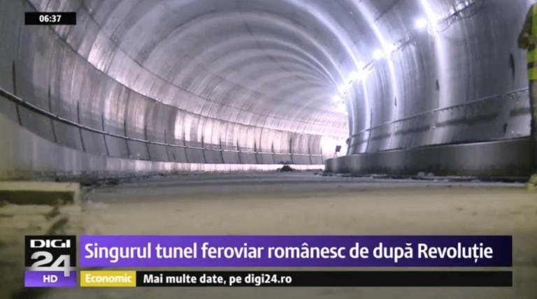 Romania tocmai a inaugurat singurul tunel feroviar construit de la caderea comunismului pana in prezent!