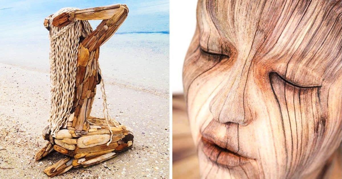 20 de sculpturi din lemn care sunt atât de realiste incat am putea crede ca au prins viata